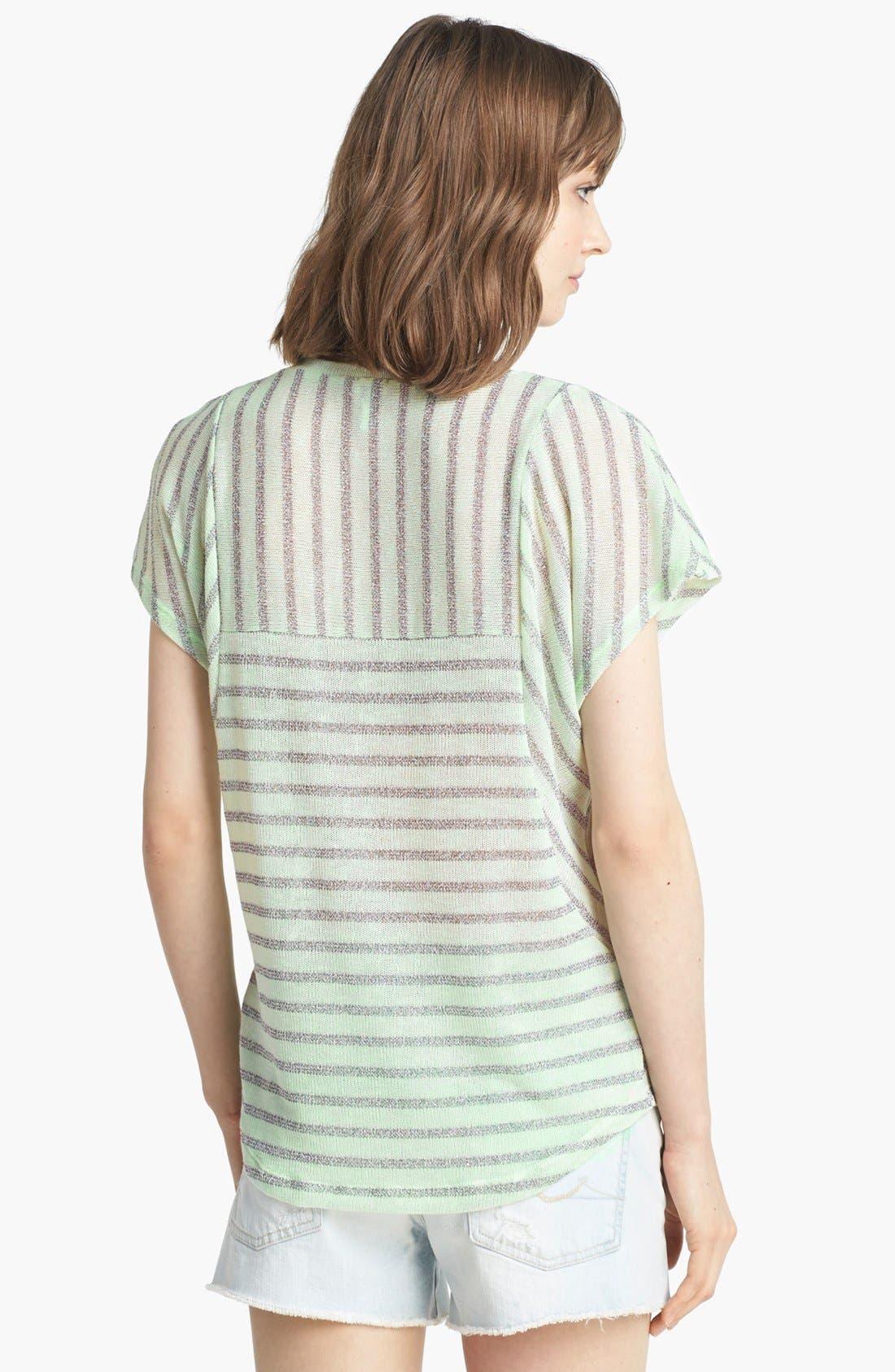 Alternate Image 2  - Splendid 'Disco Stripe' Metallic Knit Tee
