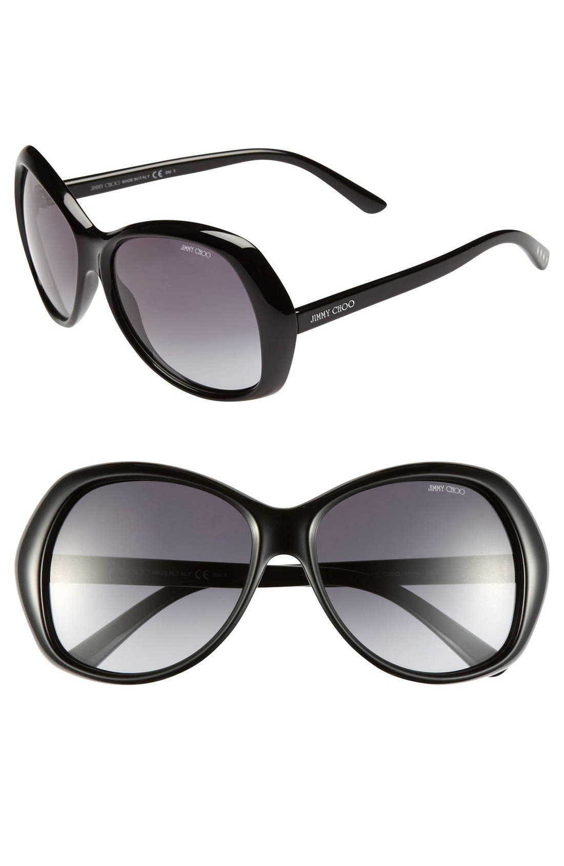 Alternate Image 1 Selected - Jimmy Choo 'Galen' 57mm Sunglasses