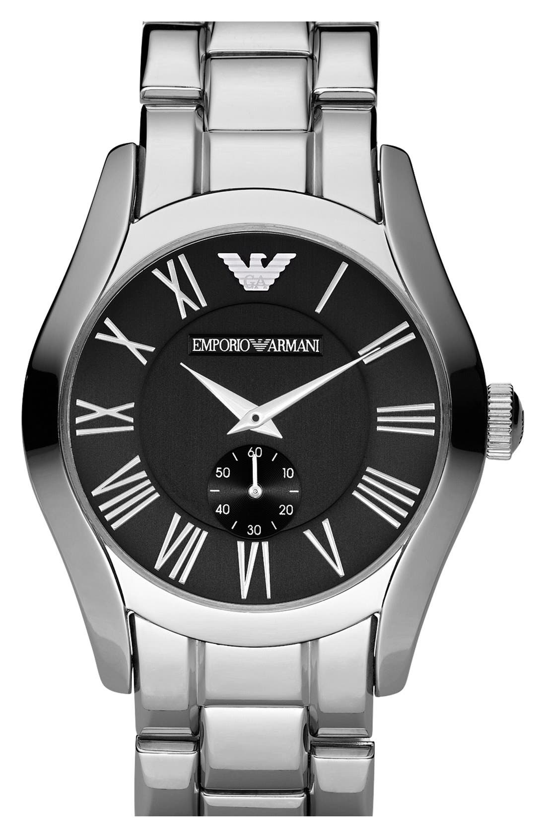 Alternate Image 1 Selected - Emporio Armani Stainless Steel Bracelet Watch