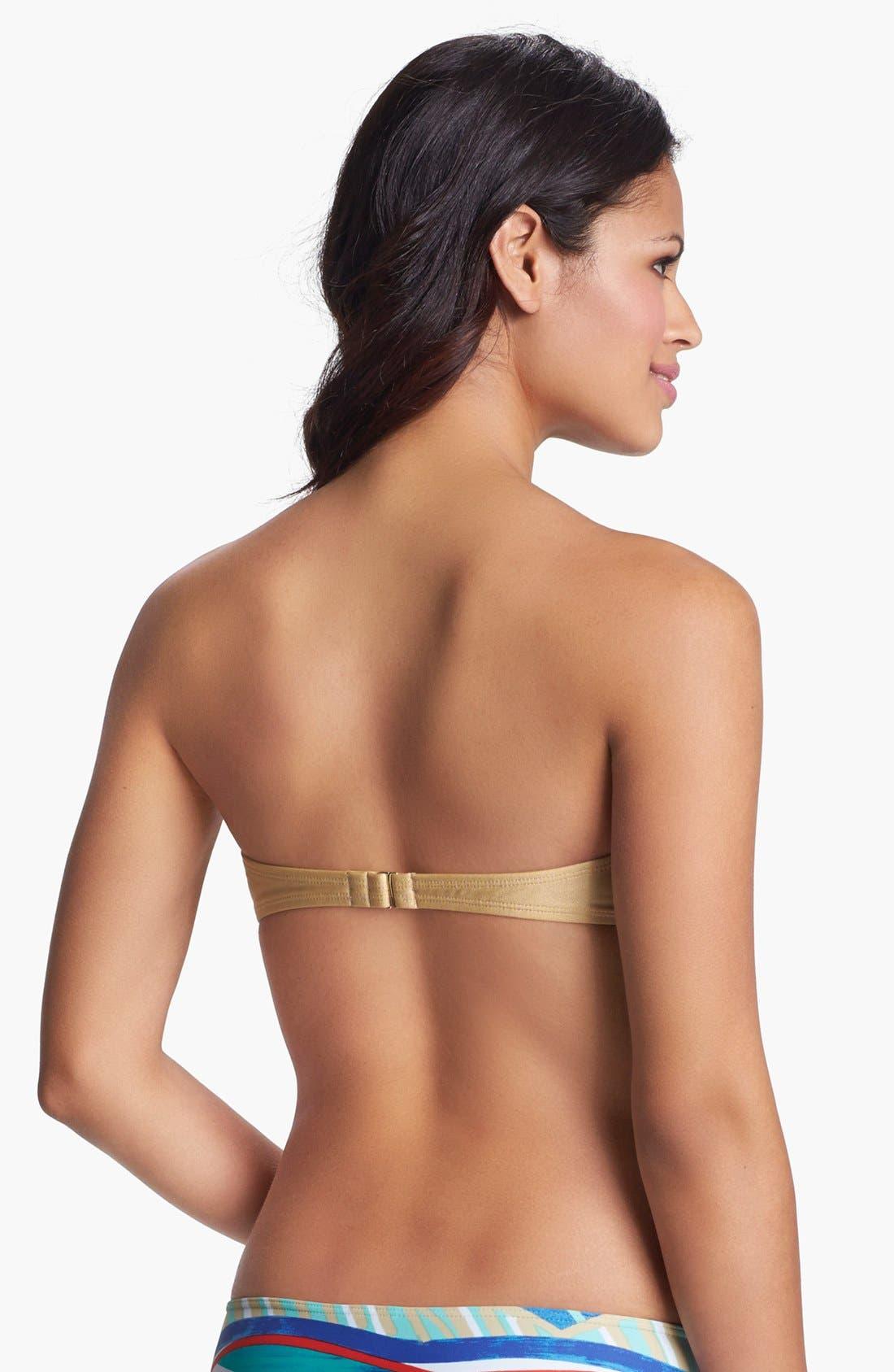 Alternate Image 2  - Roxy 'Surf Essentials' Fringe Bandeau Bikini Top