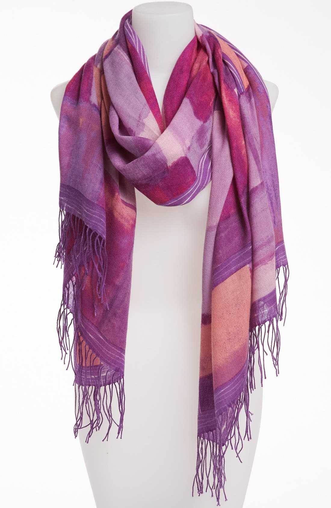 Alternate Image 1 Selected - Nordstrom 'Painterly Geometric' Wool & Cashmere Scarf