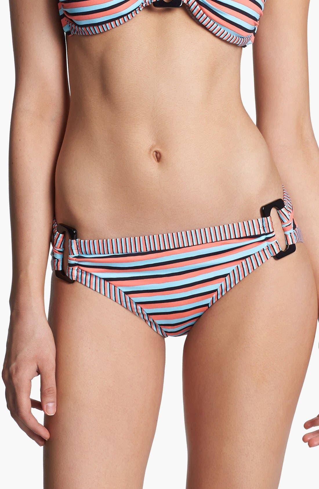 Main Image - Nanette Lepore 'Strobe Light Stripe' Hipster Bikini Bottoms