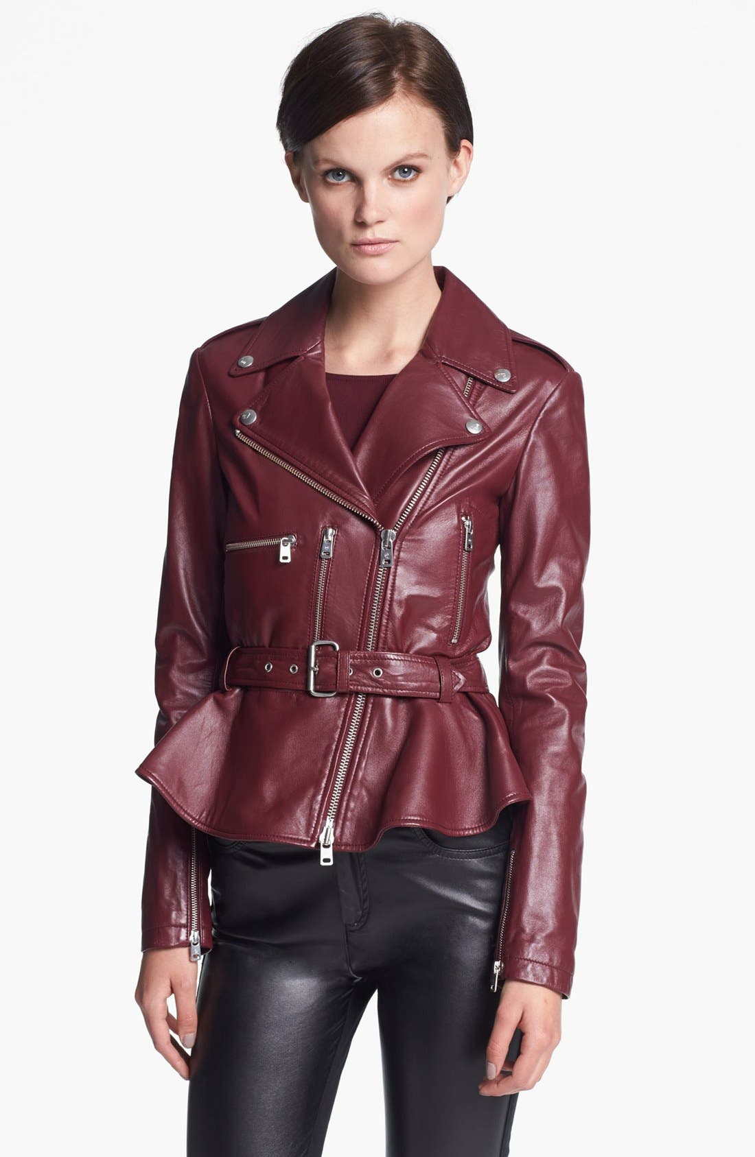 Alternate Image 1 Selected - McQ by McQueen 'Congo' Leather Biker Jacket