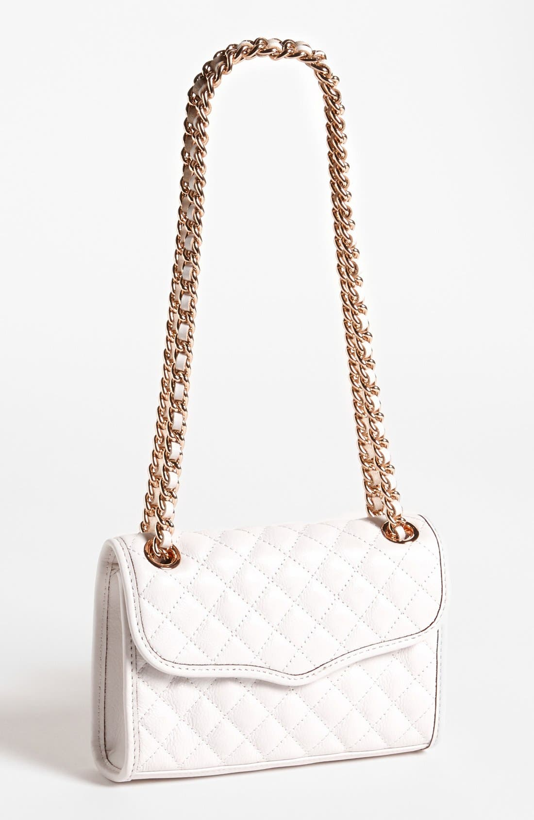 'Quilted Mini Affair' Convertible Crossbody Bag,                             Main thumbnail 1, color,                             White