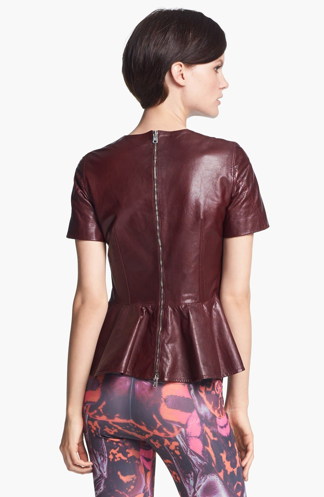 Alternate Image 3  - McQ by Alexander McQueen Leather Peplum Top