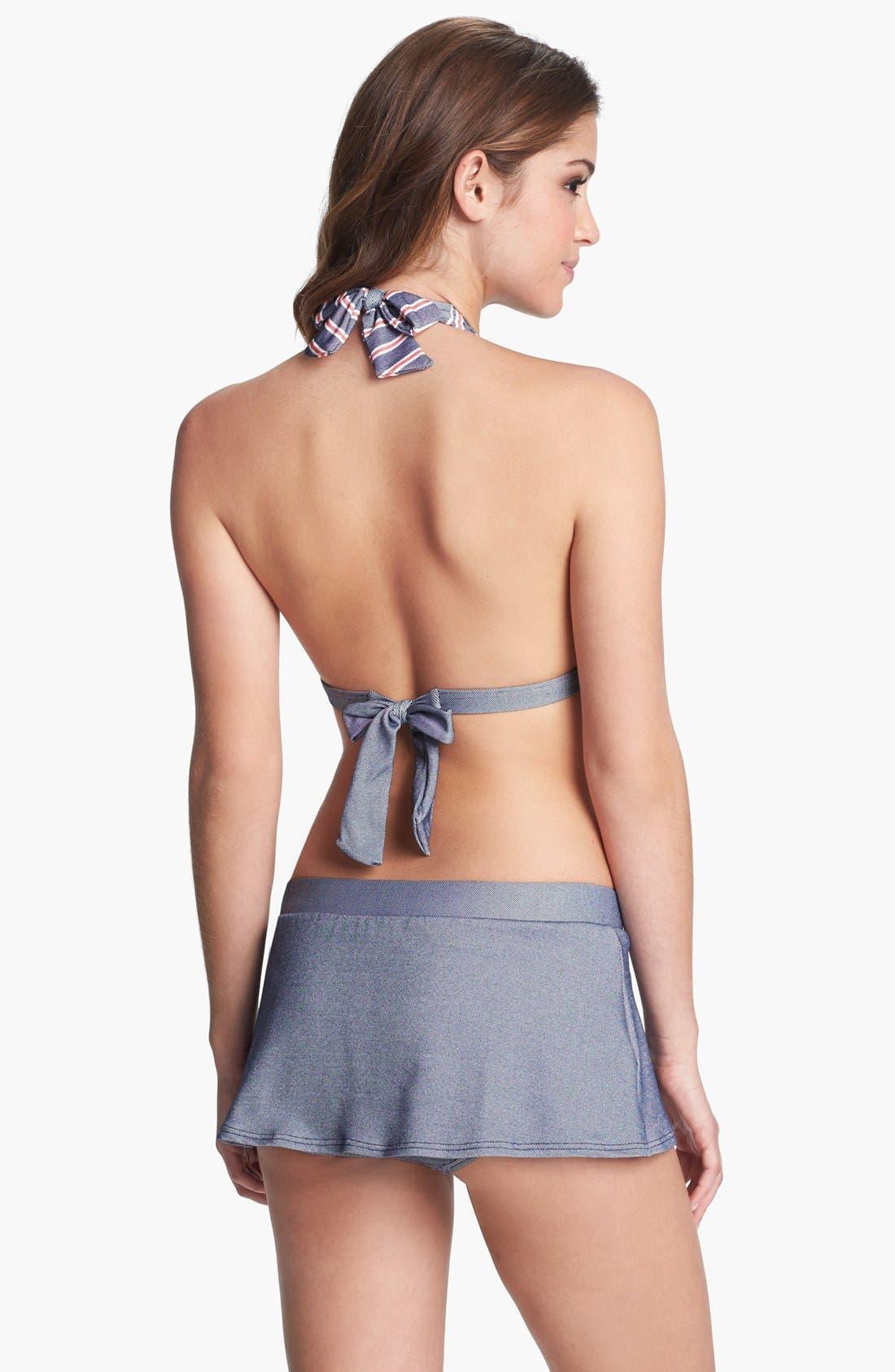 Alternate Image 4  - Tommy Hilfiger Stripe Halter Bikini Top