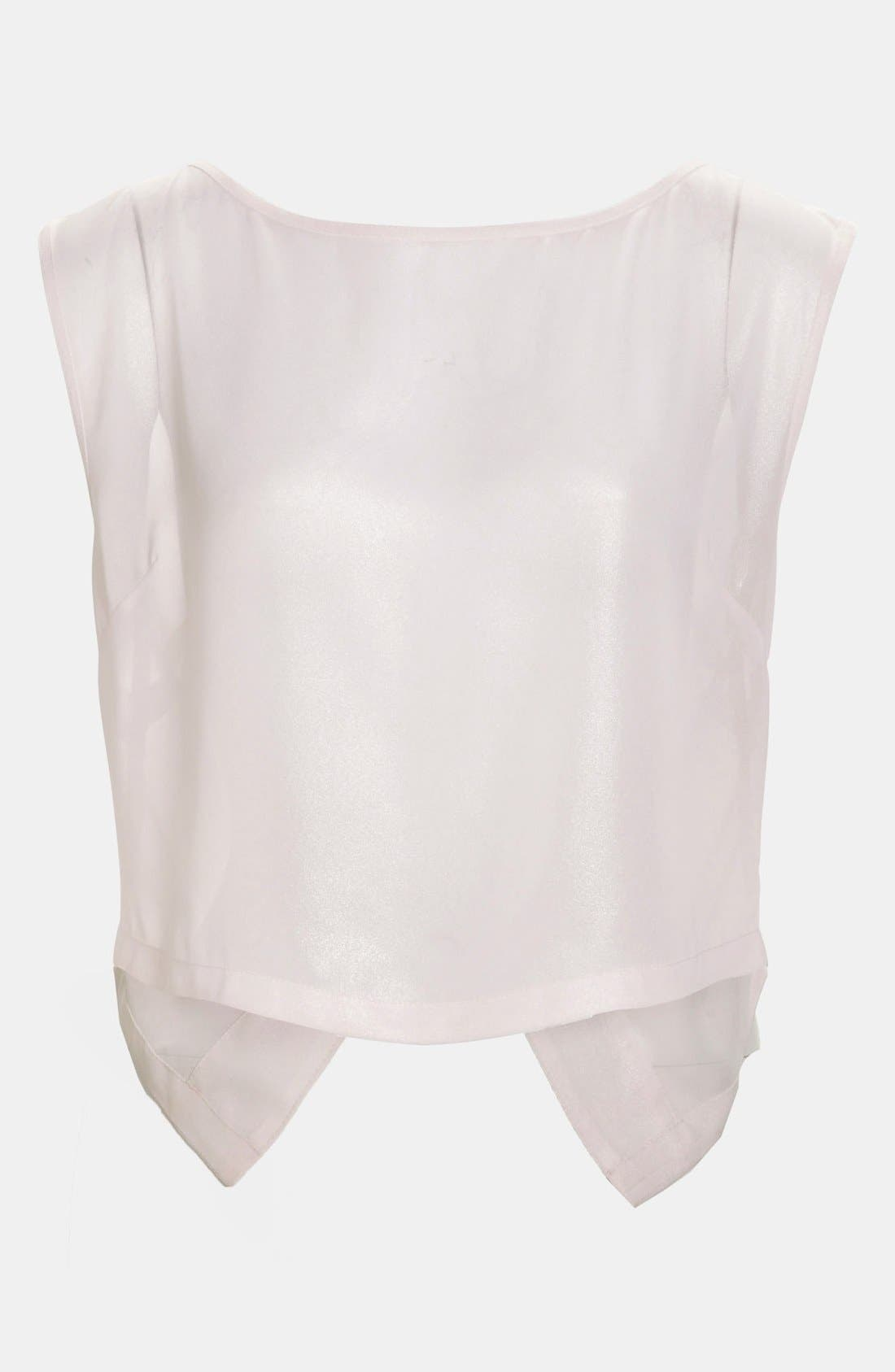 Alternate Image 1 Selected - Tildon 'Origami' Sheer Top