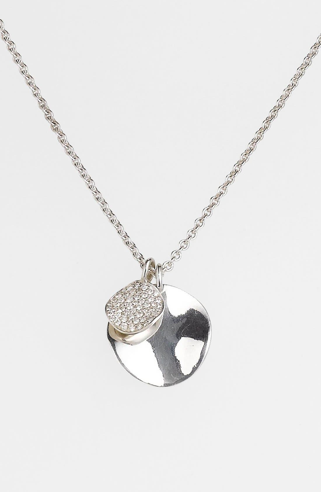 Alternate Image 1 Selected - Ippolita 'Silver Diamond' Cluster Pendant Necklace (Online Only)