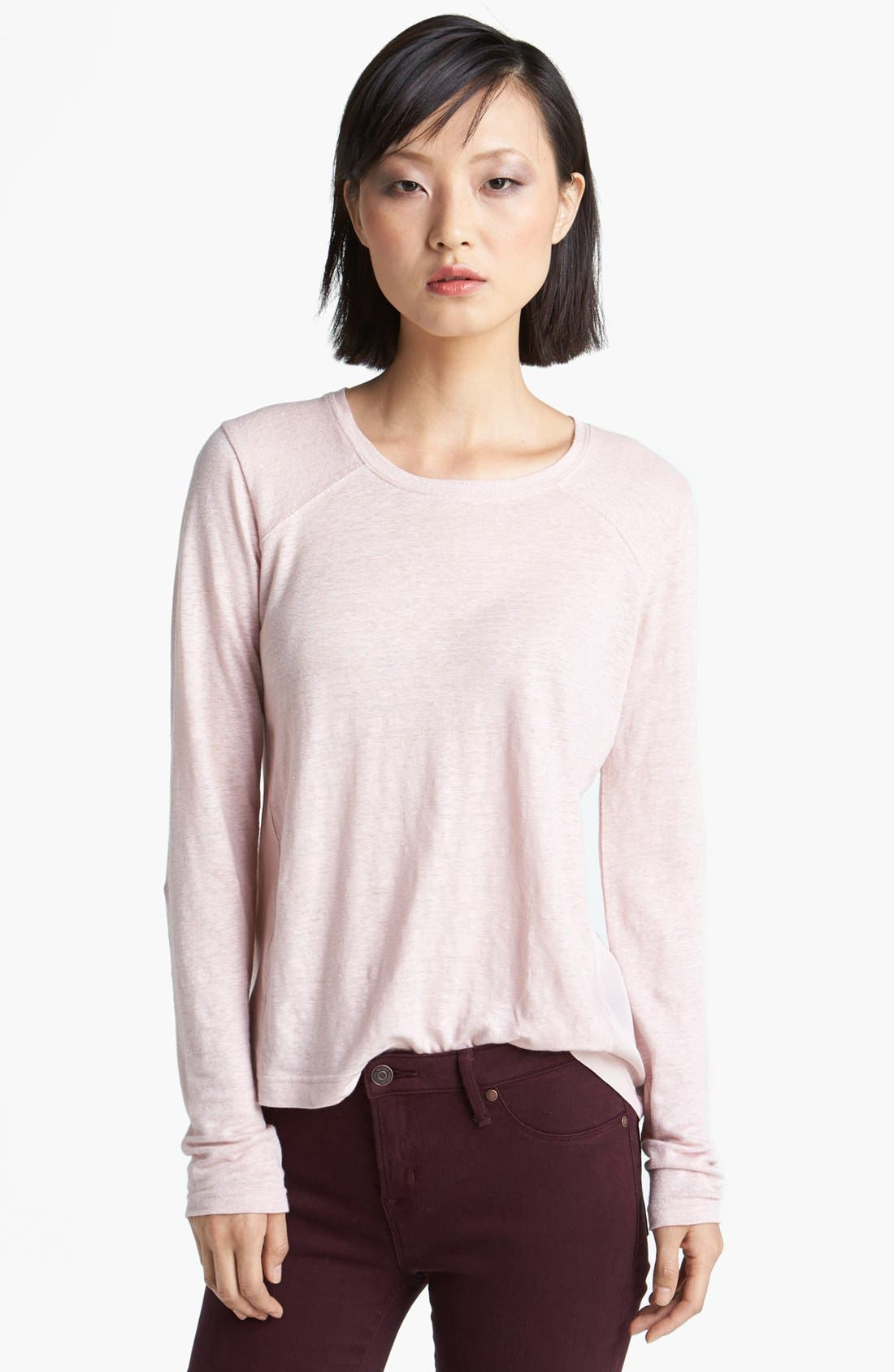 Alternate Image 1 Selected - MARC BY MARC JACOBS 'Martha' Long Sleeve Linen Tee