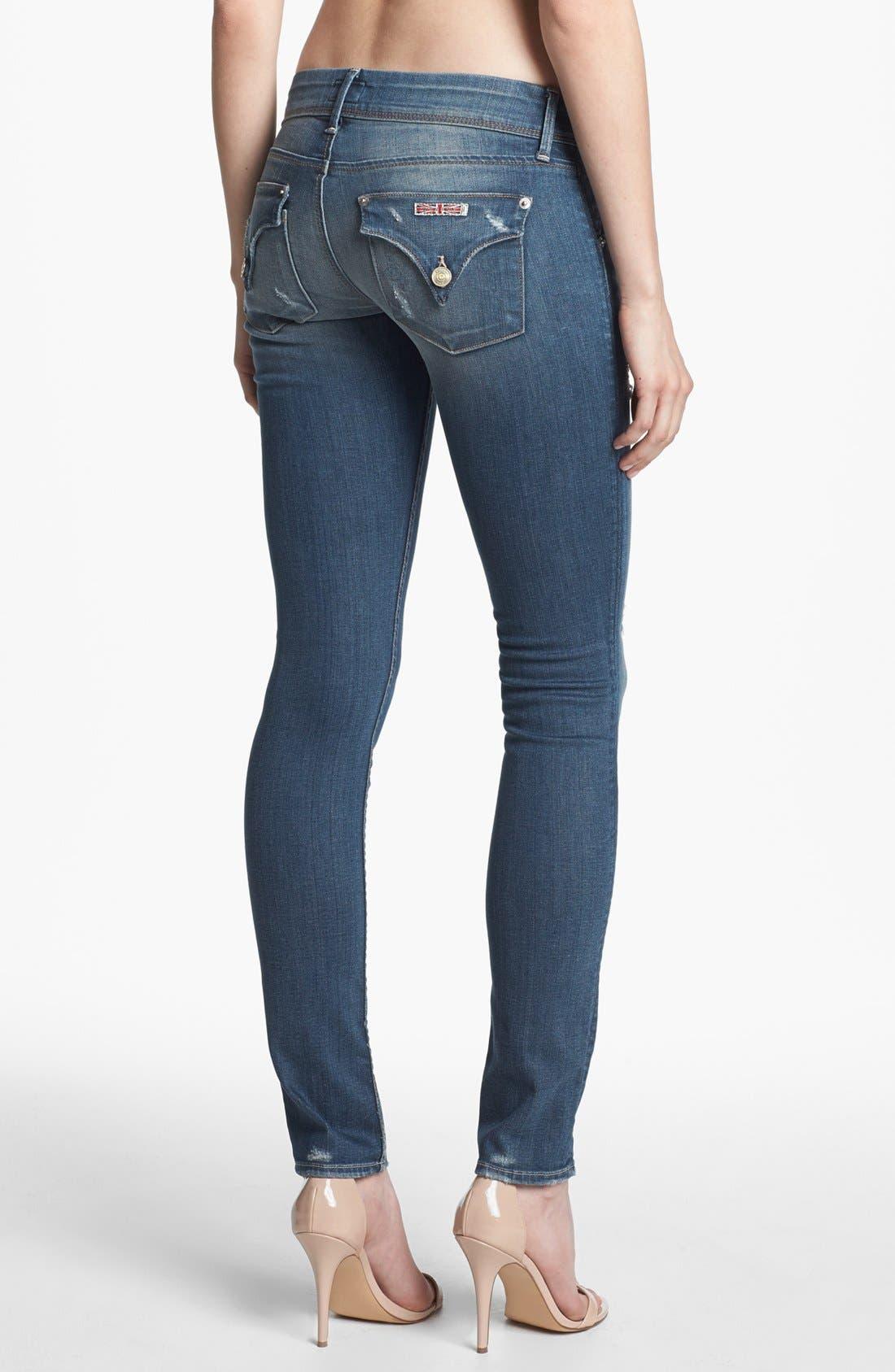 Alternate Image 2  - Hudson Jeans 'Collin' Distressed Skinny Jeans (Vintage Florence)