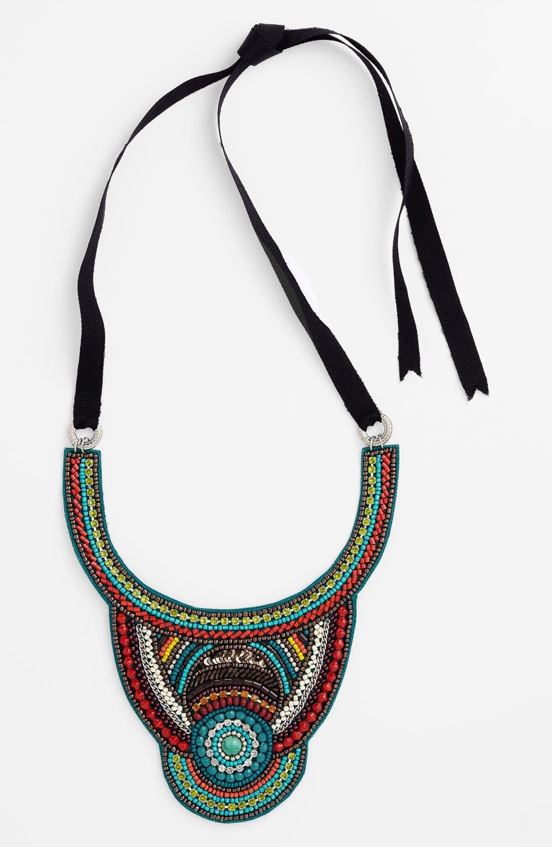 Main Image - Spring Street 'Goddess' Beaded Bib Necklace
