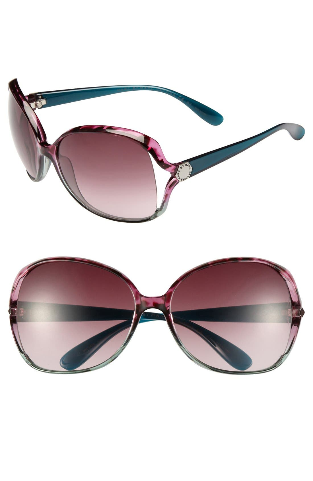 Alternate Image 1 Selected - MARC BY MARC JACOBS Oversized 59mm Square Sunglasses