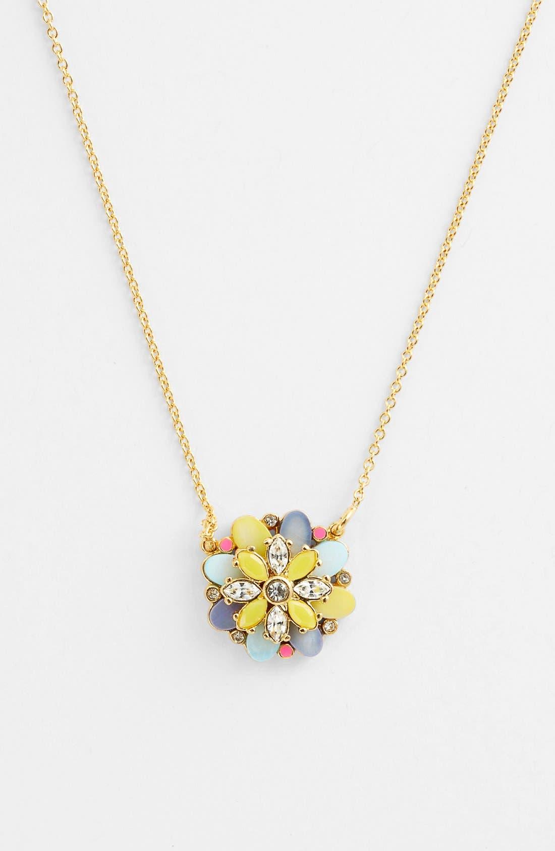 Alternate Image 1 Selected - kate spade new york 'bungalow bouquet' pendant necklace