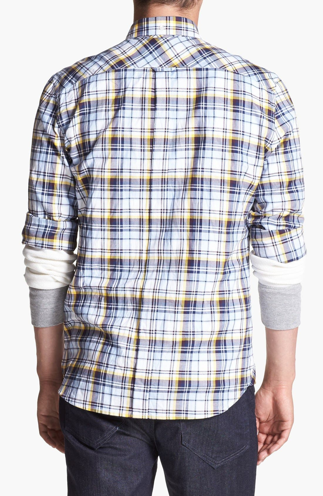 Alternate Image 2  - French Connection 'Thames Valley' Slim Fit Sport Shirt
