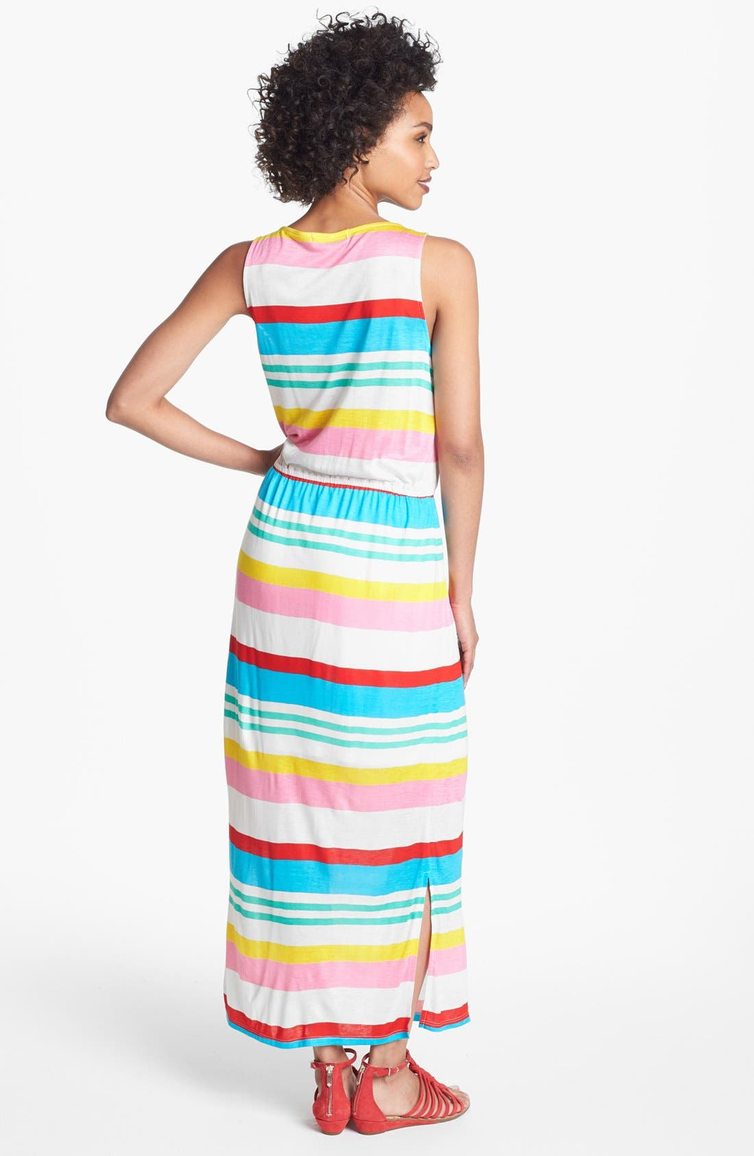 Alternate Image 2  - Olivia Moon Multi Stripe Maxi Dress