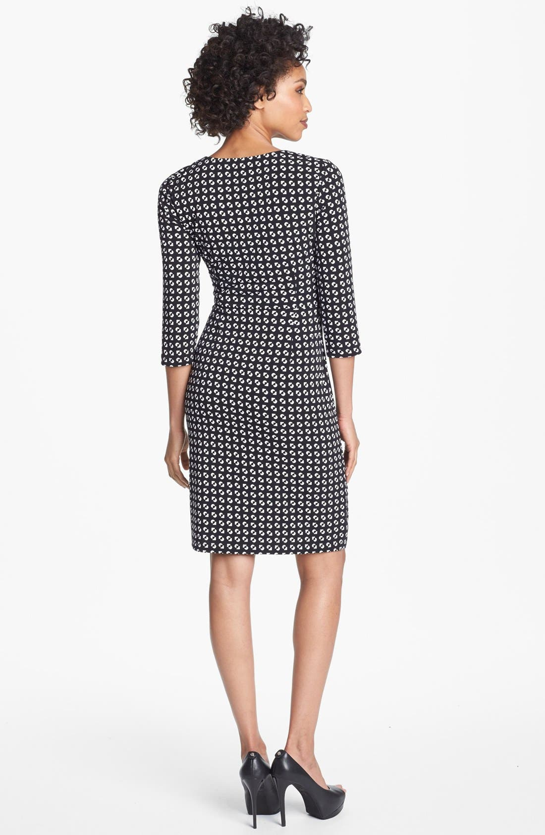 Alternate Image 2  - Maggy London Print Matte Jersey Wrap Dress (Regular & Petite)