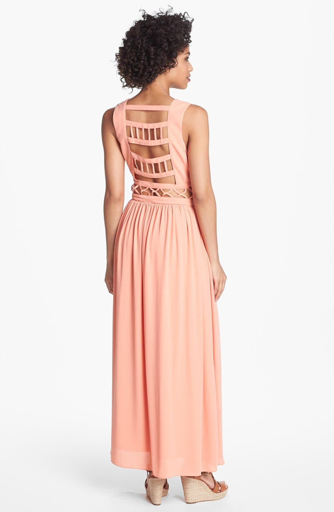 Alternate Image 2  - Lovers + Friends 'Calling You' Cutout Maxi Dress