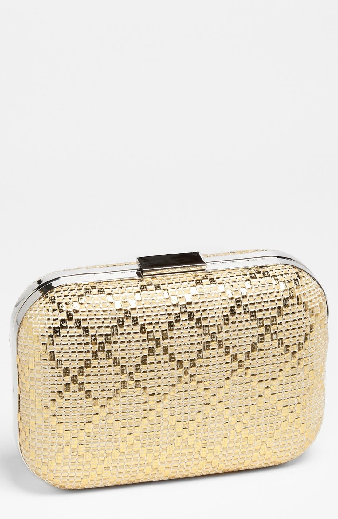Main Image - Expressions NYC Diamond Weave Box Clutch