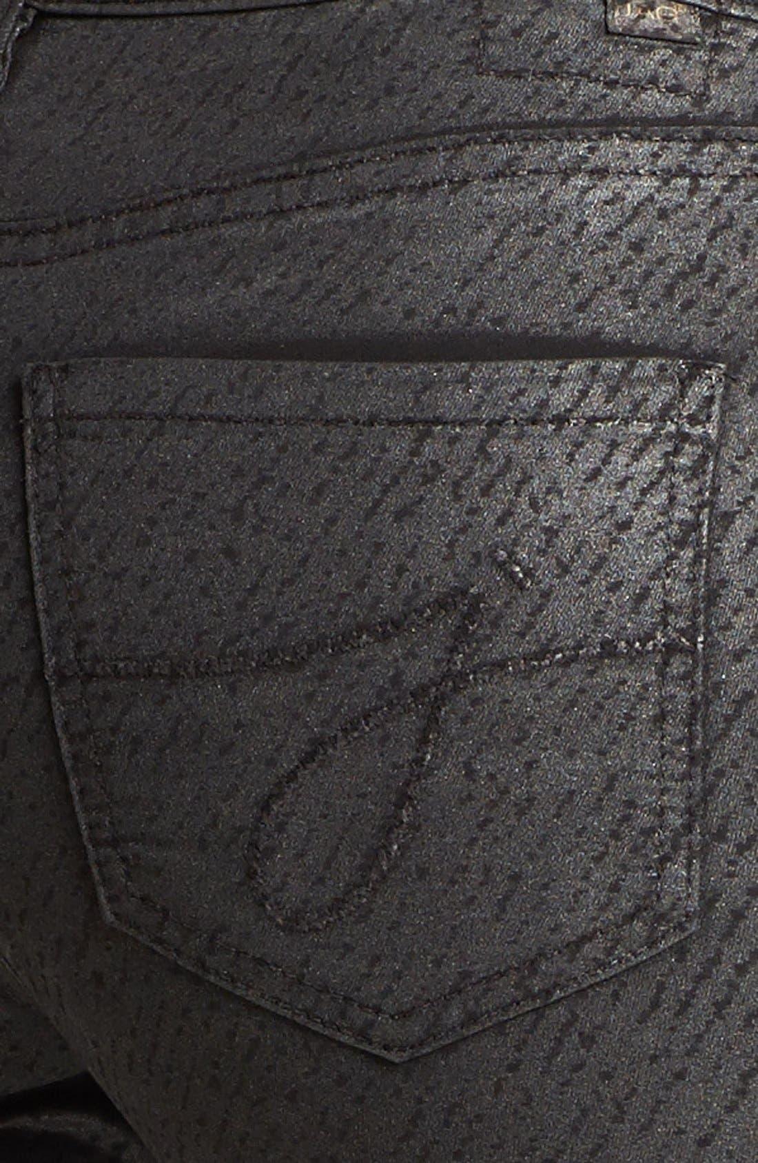 Alternate Image 4  - Jag Jeans 'Miranda' Metallic Coated Print Skinny Jeans (Regular & Petite)