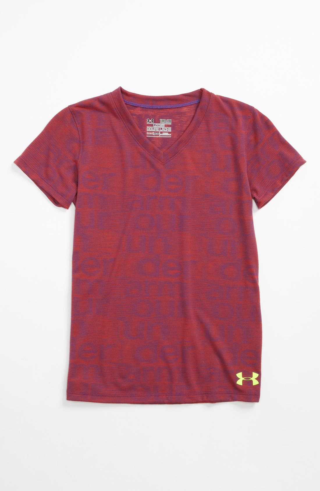 Alternate Image 1 Selected - Under Armour 'Script' Burnout Tee (Big Girls)