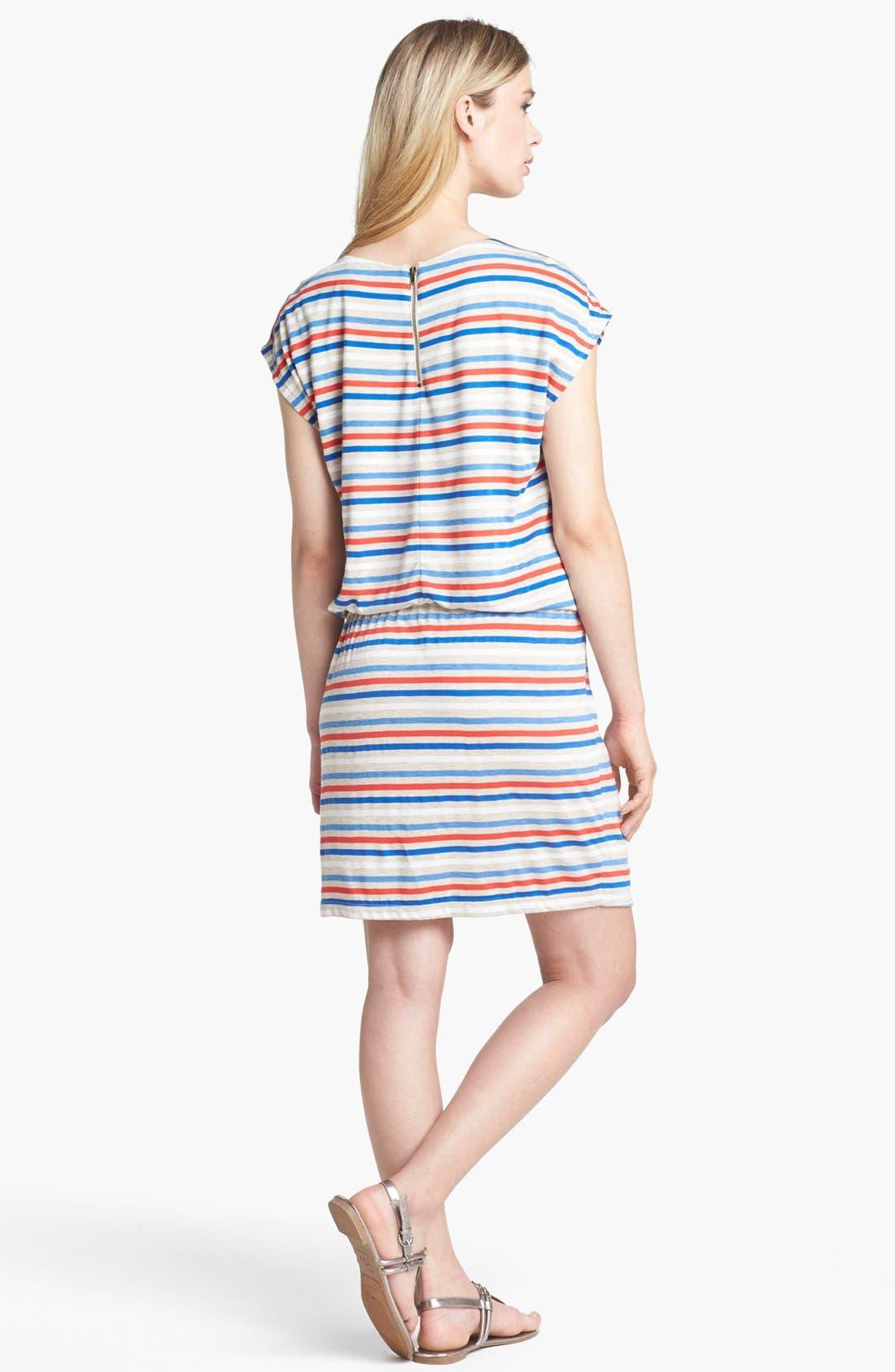 Alternate Image 2  - Olivia Moon Back Zip Stripe Dress