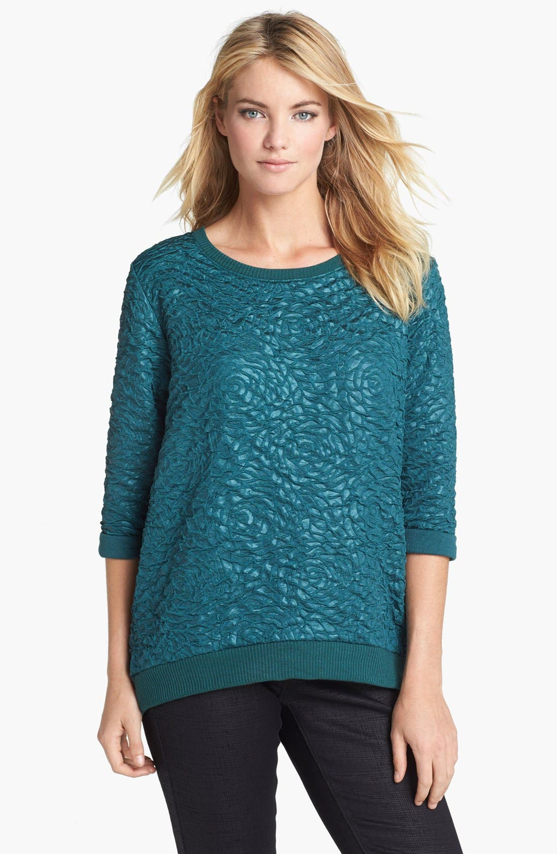 Alternate Image 1 Selected - Bobeau Textured Sweatshirt