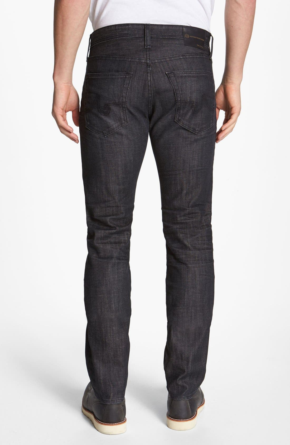 Alternate Image 2  - AG 'Matchbox' Slim Fit Jeans (1 Year Black)