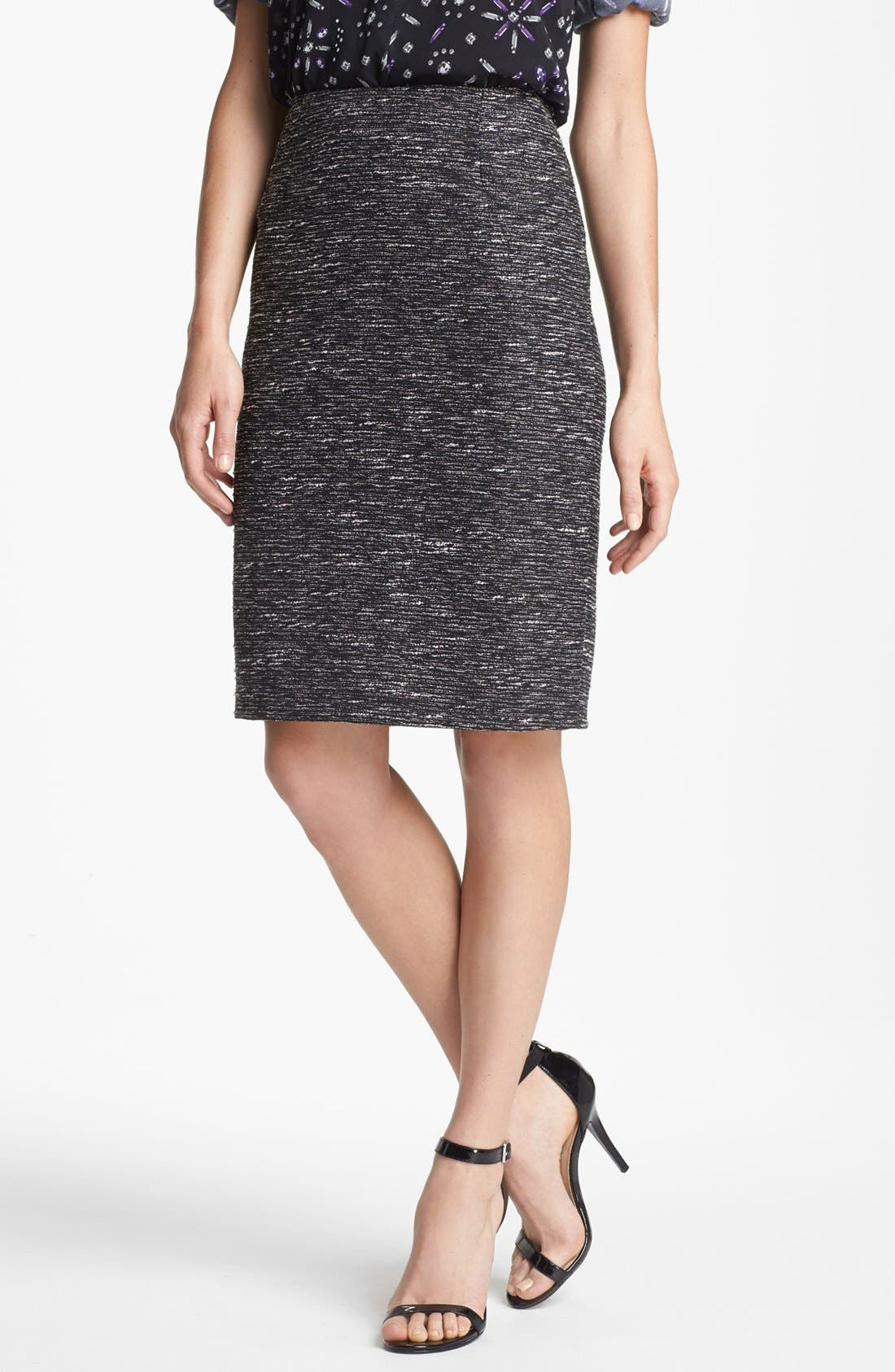Alternate Image 1 Selected - Vince Camuto Metallic Tweed Pencil Skirt