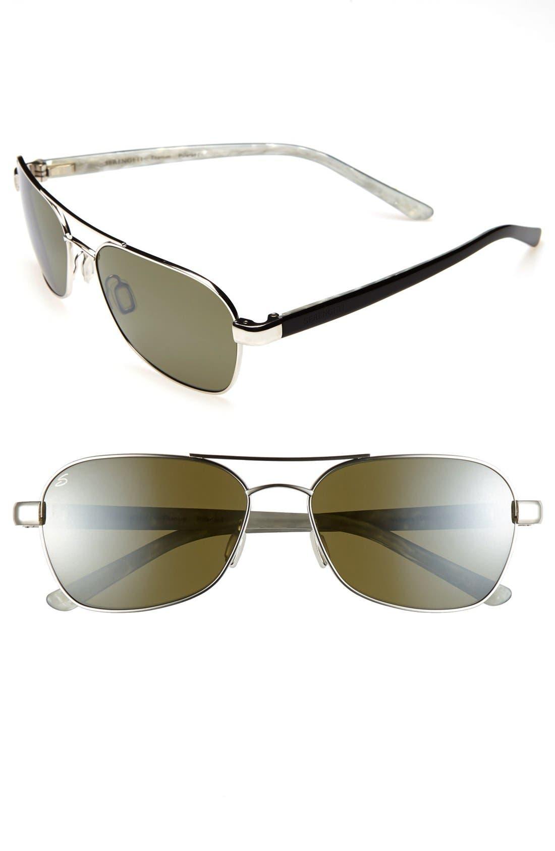 Main Image - Serengeti 'Volterra' 61mm Polarized Titanium Sunglasses