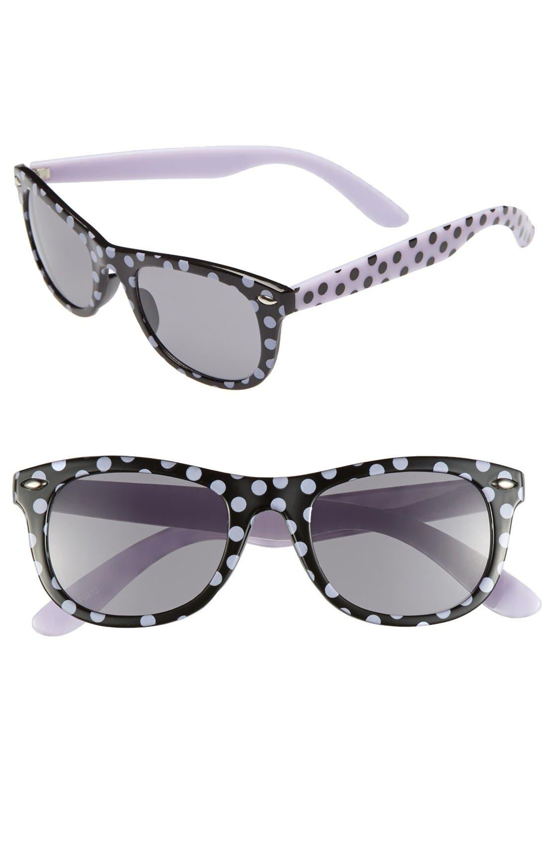 Alternate Image 1 Selected - Fantas Eyes Print Sunglasses (Girls)