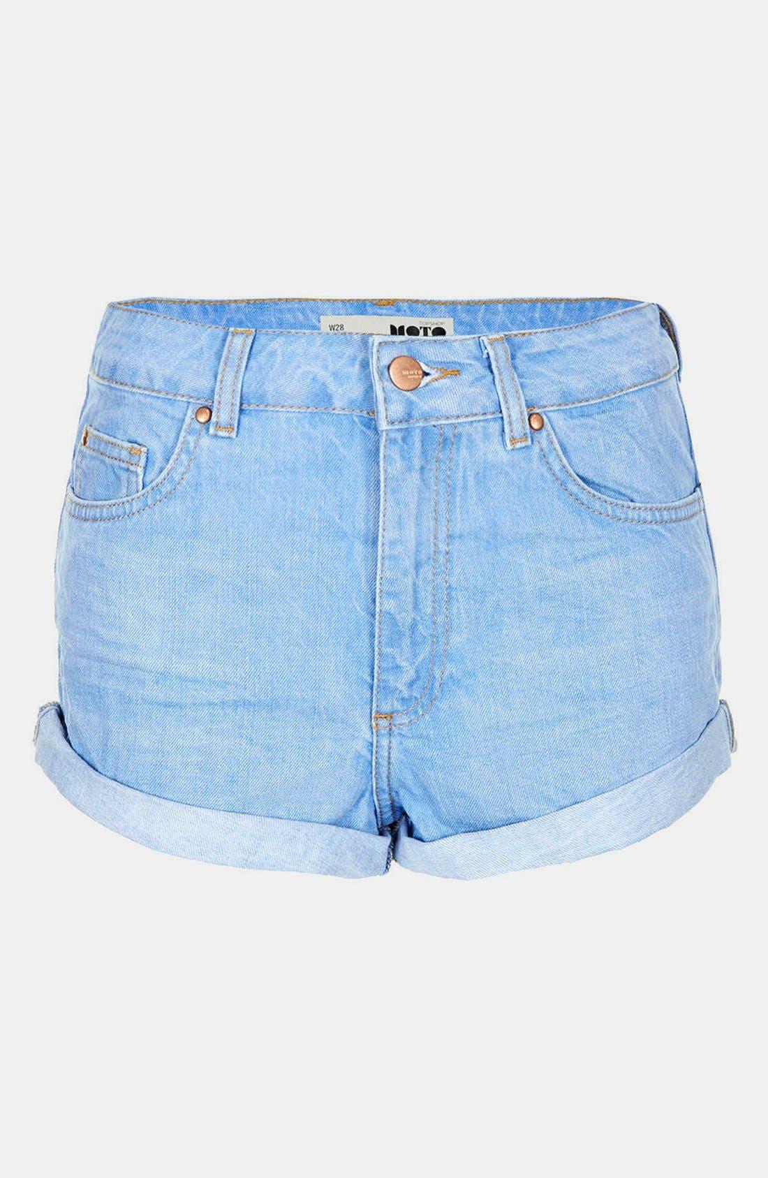 Alternate Image 3  - Topshop Moto 'Polly' Denim Shorts