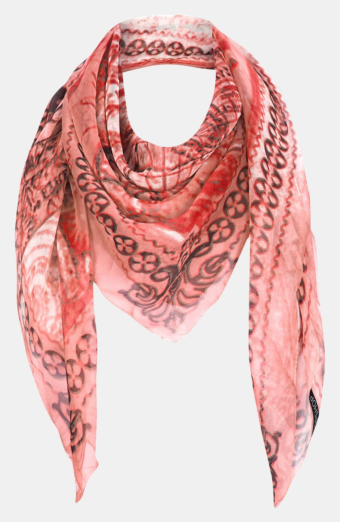 Alternate Image 1 Selected - Topshop 'World Map' Chiffon Square Scarf