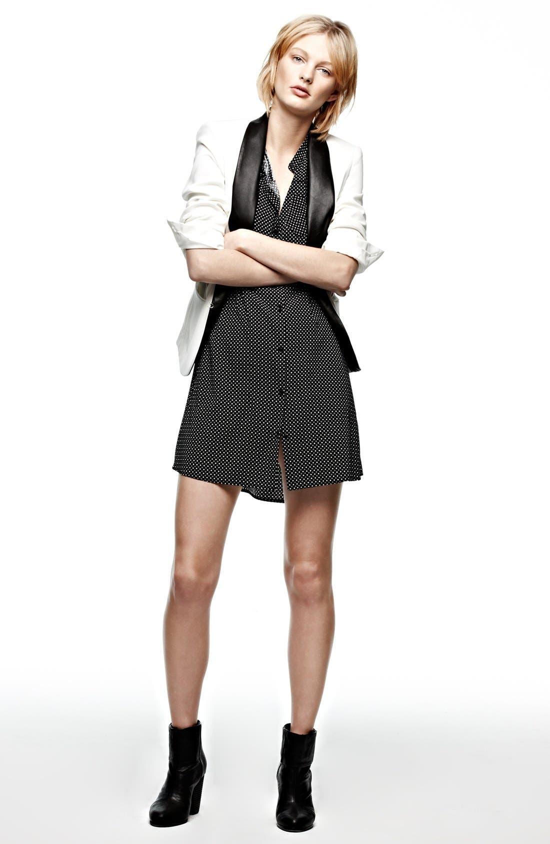 Alternate Image 4  - rag & bone 'Aberdeen' Silk Shirtdress