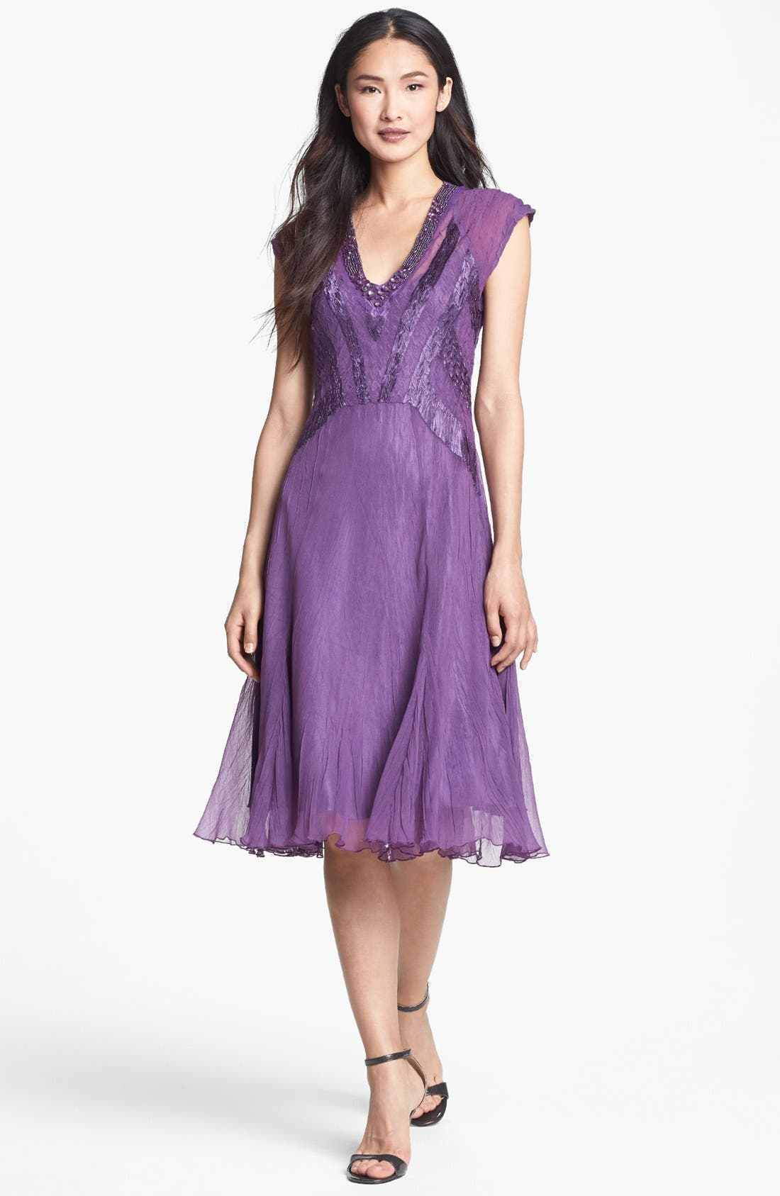 Alternate Image 1 Selected - Komarov Embellished Chiffon Dress