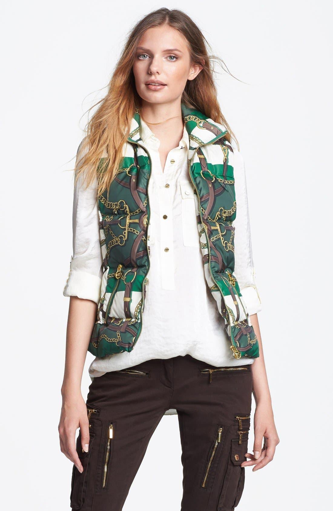 Alternate Image 1 Selected - MICHAEL Michael Kors Print Down Vest