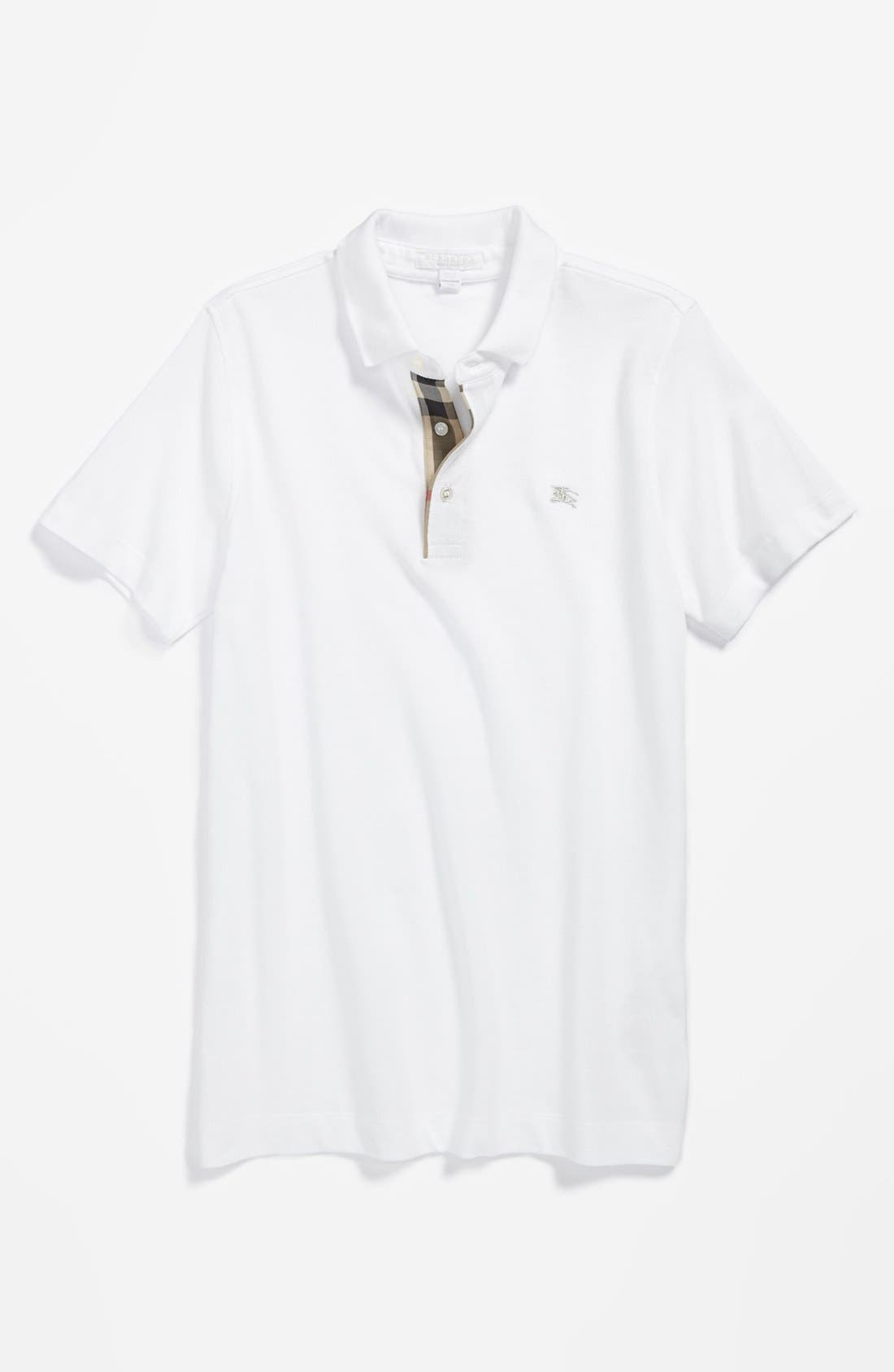 Alternate Image 1 Selected - Burberry 'Linter' Polo (Little Boys & Big Boys)