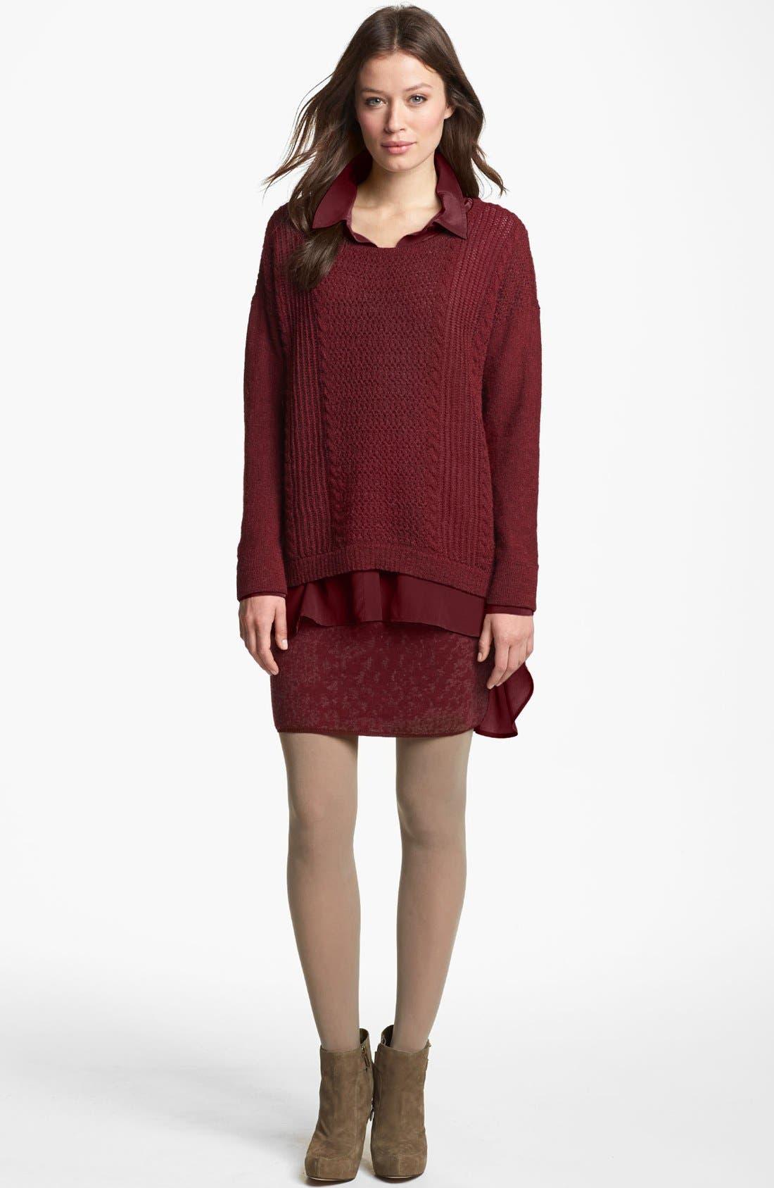 Alternate Image 4  - Eileen Fisher Shadow Felted Merino Blend Skirt (Regular & Petite)