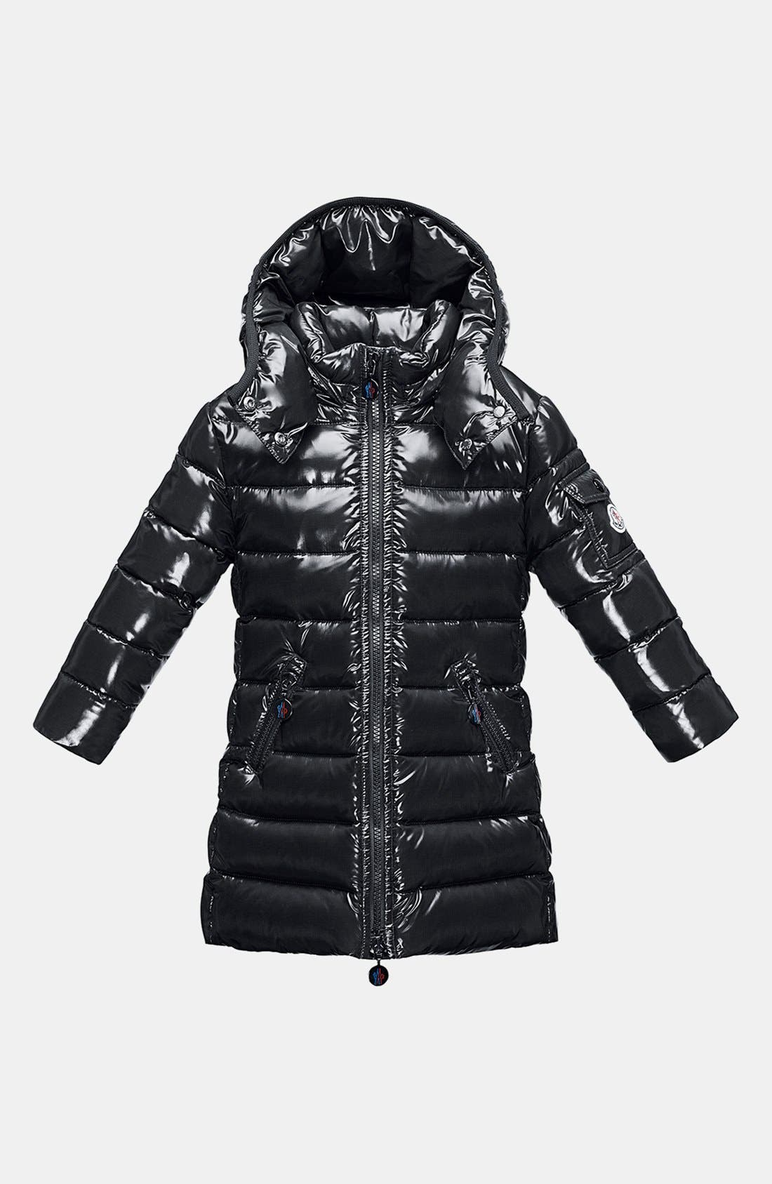 Main Image - Moncler 'Moka' Hooded Down Jacket (Toddler Girls, Little Girls & Big Girls)
