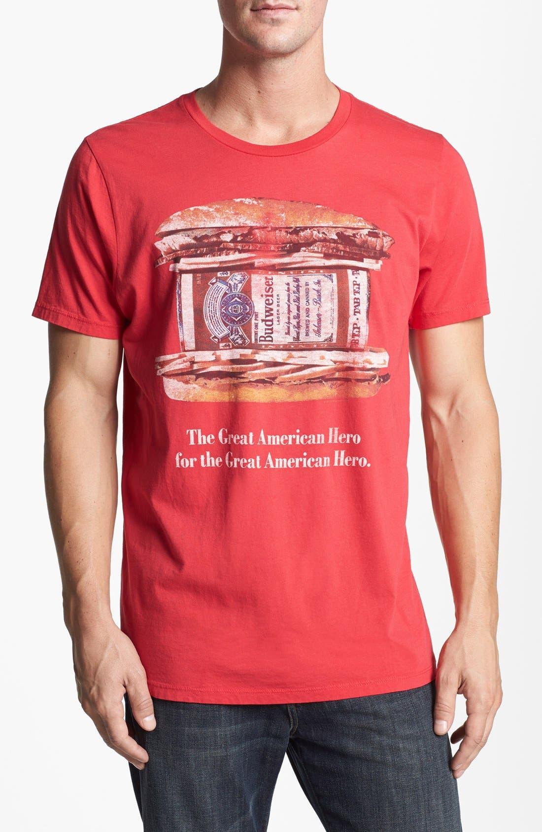 Alternate Image 1 Selected - Junk Food 'Budweiser Hero' T-Shirt