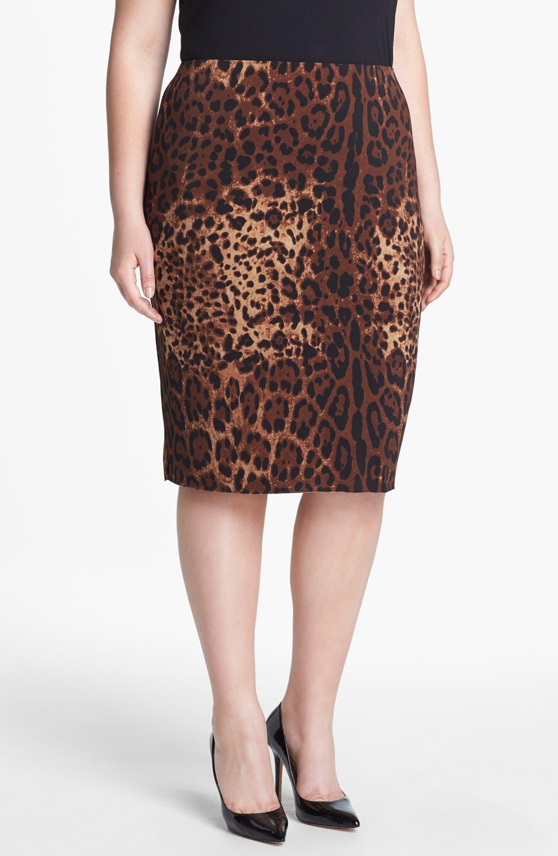Main Image - Vince Camuto Print Pencil Skirt (Plus Size)