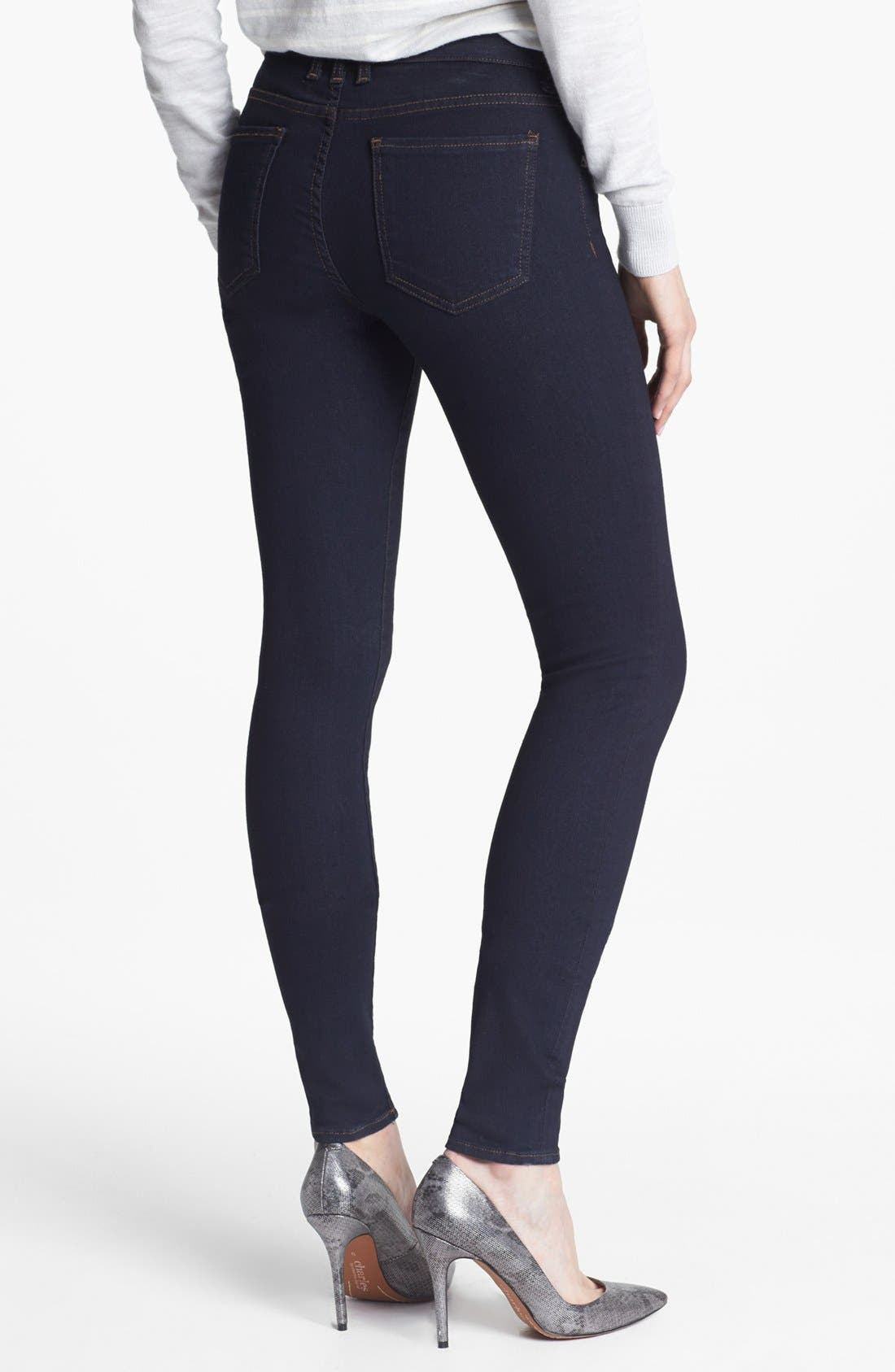 'Mia' Skinny Jeans,                             Alternate thumbnail 2, color,                             Outspoken Wash