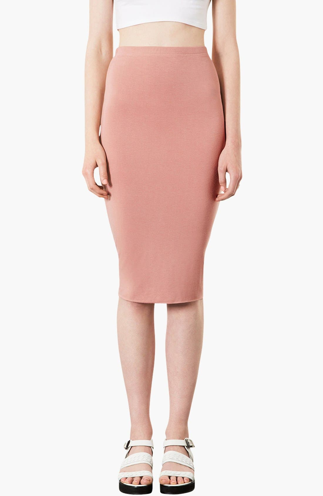 Main Image - Topshop Knee-Length Tube Skirt
