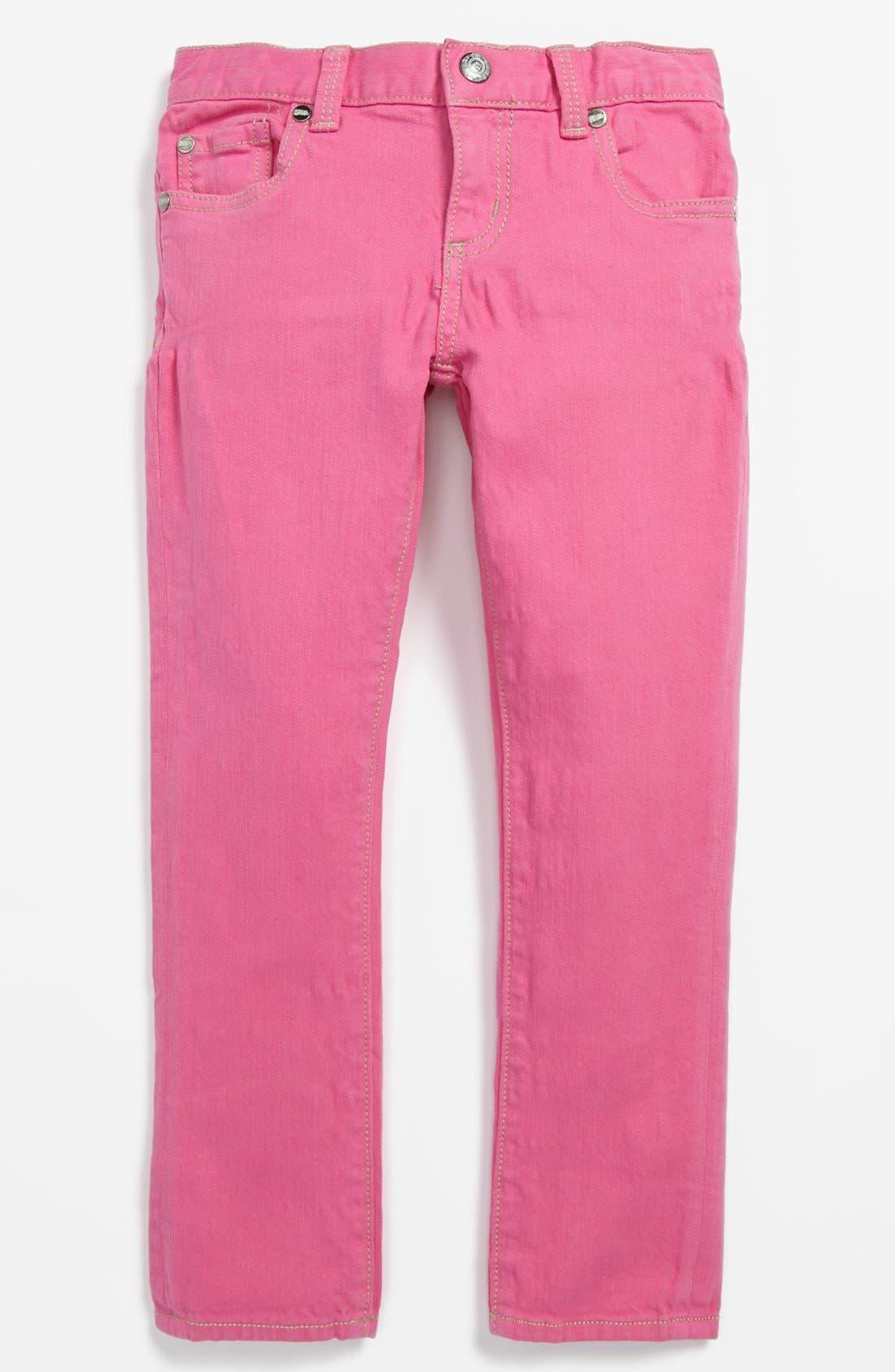 Alternate Image 2  - Peek 'Dylan' Jeans (Toddler Girls, Little Girls & Big Girls)