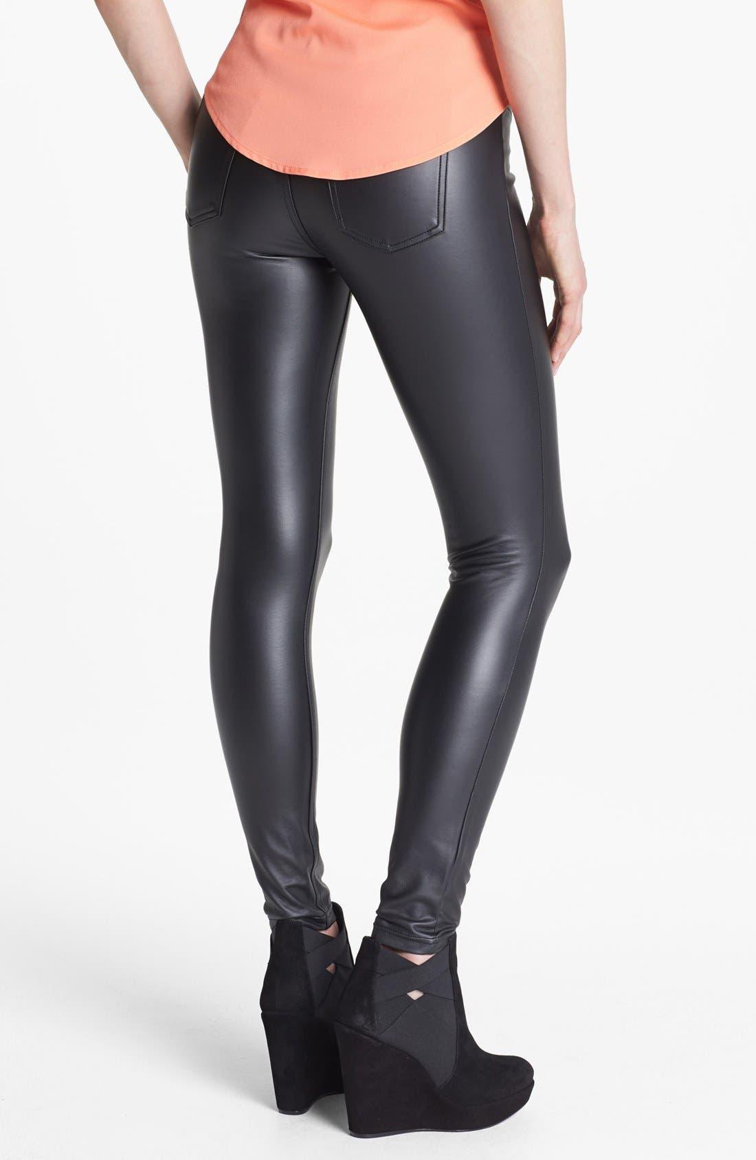 Alternate Image 2  - Hue 'Leatherette' Leggings