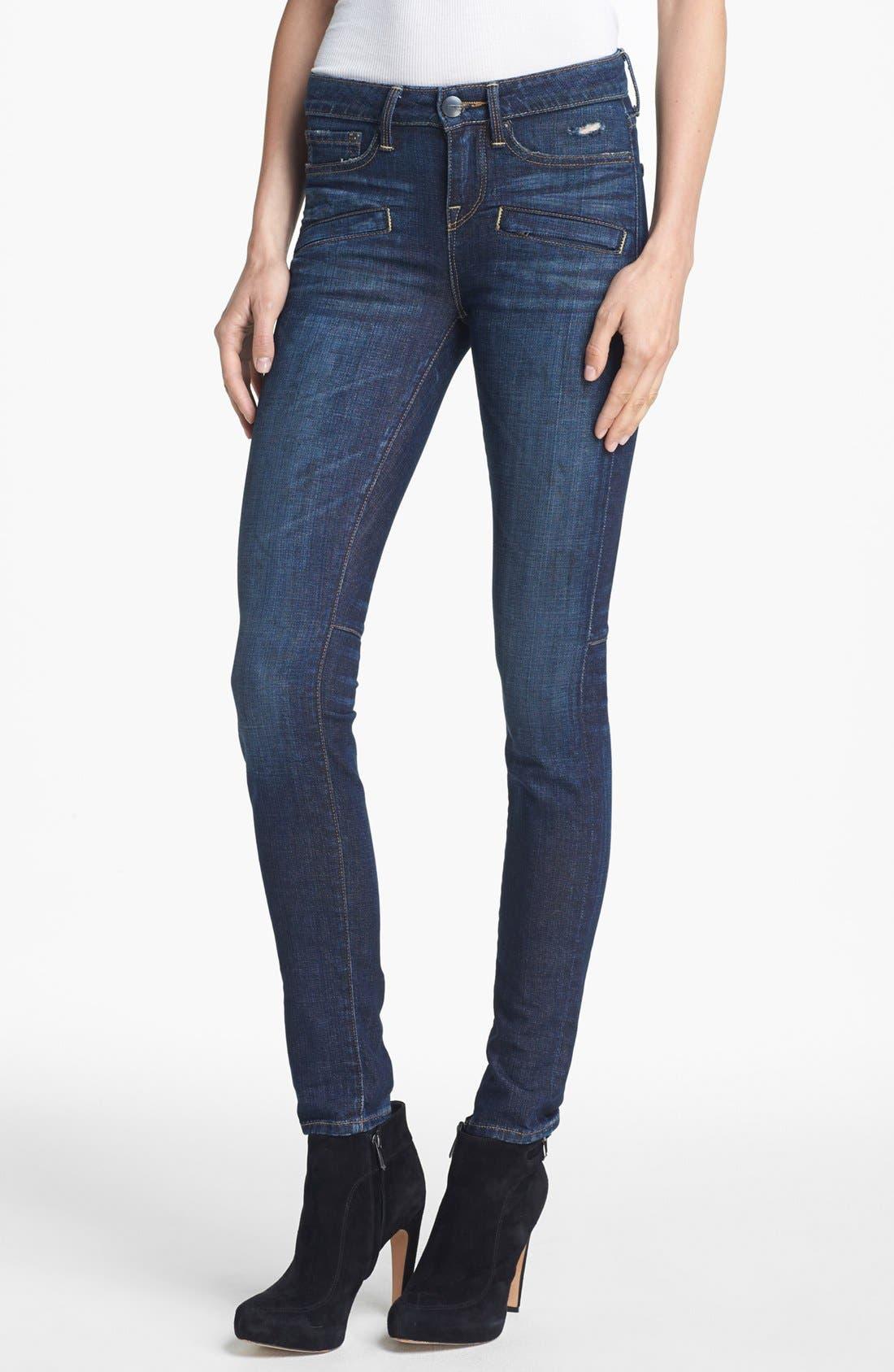 Alternate Image 1 Selected - Vince Welt Pocket Skinny Stretch Jeans (Dirty Vintage)