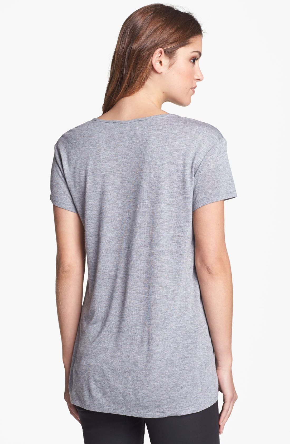 Alternate Image 2  - Two by Vince Camuto High/Low Tee