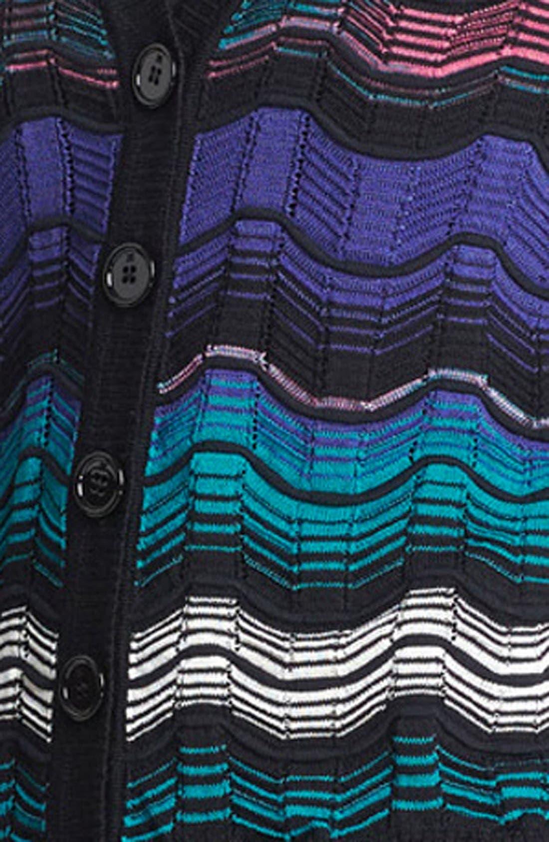 Alternate Image 3  - M Missoni Greek Key Stripe Cardigan