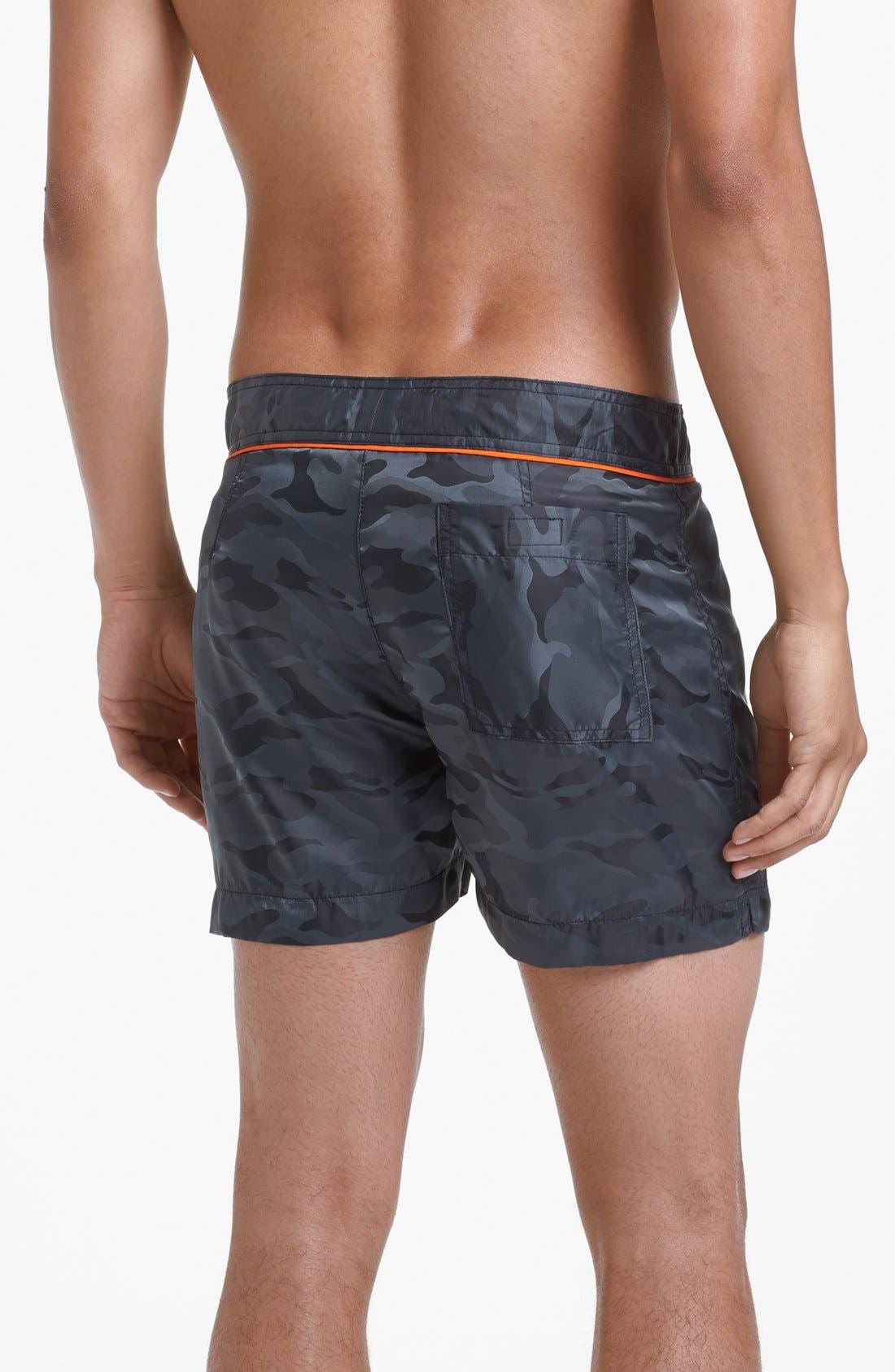 Alternate Image 2  - Parke & Ronen Classic Camo Print Swim Shorts