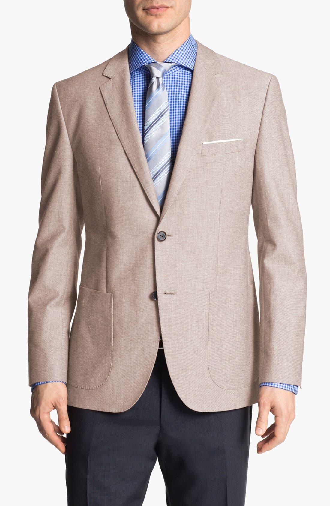 Alternate Image 5  - BOSS HUGO BOSS 'Jesse' Trim Fit Cotton Blazer