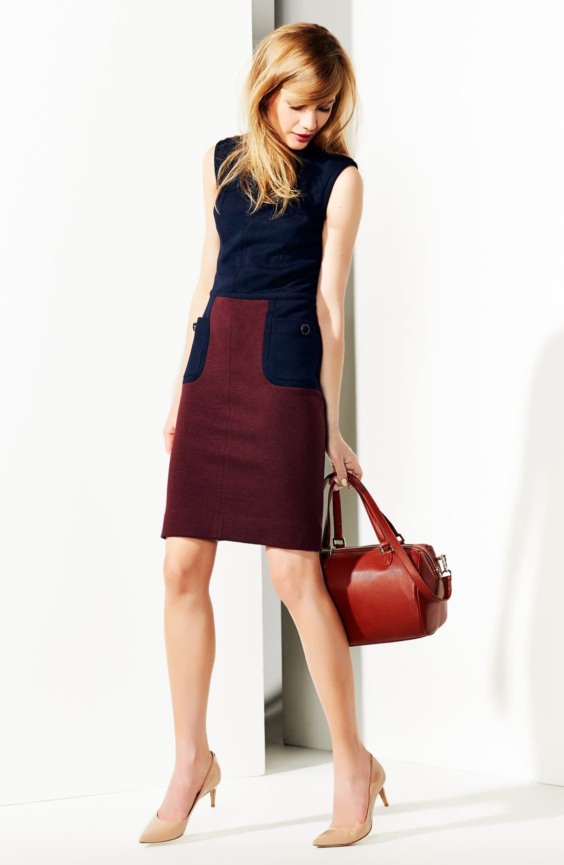 Alternate Image 4  - Tory Burch 'Brianna' Colorblock Sheath Dress